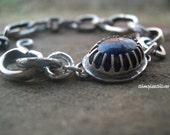 Artisan Jewelry  -  Handcrafted Bracelet  -  Sterling Silver Chain Bracelet  -  Lapis Lazuli Bracelet