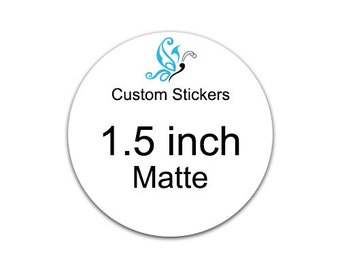 150 custom stickers 1.5inch round  - laser printed product labels