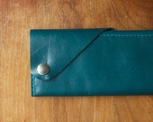 "Leather Wrap Wallet ""The Constance"" in Deep Teal"