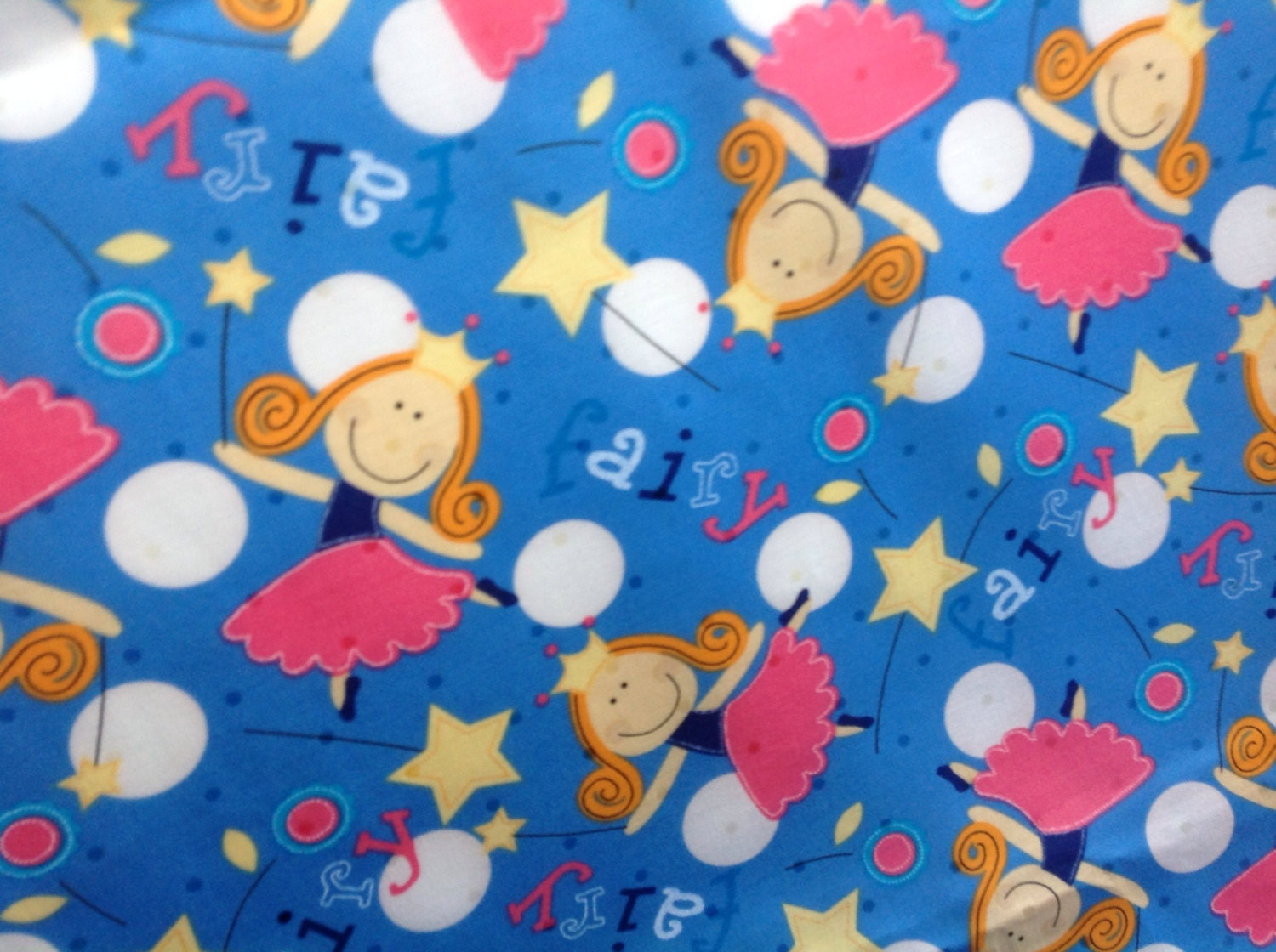 Cotton fabric fairies kids cotton fabric children 39 s fabric for Cotton fabric for children s clothes