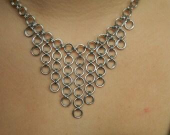 Silver V Necklace