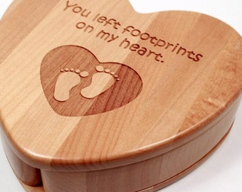 Personalized Heart Keepsake Storage Box - Photo Engraved - Mother's Day Gift