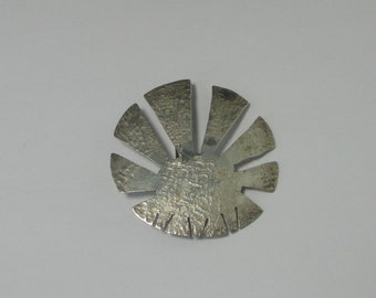 ED LEVIN Vintage  Sterling Sunburst Brooch/Pin