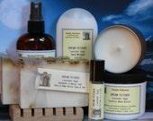 Lavender Gift Set - Spa Gift Set Lavender Soap, Lotion, Candle & Spray - Lavendar Gift Sets