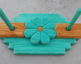 Turquoise Hand Carved Napkin Holder