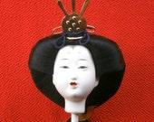 Doll Head - Woman Doll - Japanese Doll - Hina Ningyo - Queen - Doll Parts - Japanese Head - Girl Head - Hinat Matsuri - L Size - D4-40
