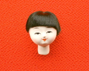 Japanese Doll Head - Girl Doll Head - Small Doll Head - Vintage Doll Head (D3-1) Small Size