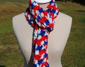 Red, White, and Blue Shell Scarf