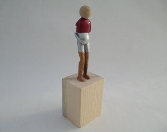 Pregnant Figure Sculpture, Mixed Media, OOAK, Hand-made, Redwood, Sycamore