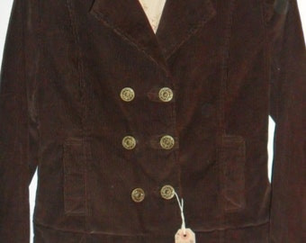 Steampunk Military Style Brown Warm Corduroy Jacket