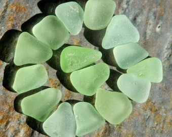 Seafoam Seaglass Charms. Undrilled Jewelry & Craft Supply. 15 Pieces. Lot I4