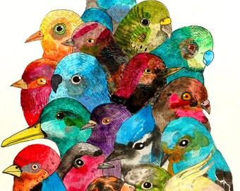 birds (original art on paper)