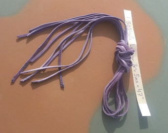 "Lavender Straight Cut Buckskin Lacing- 1/8"" Wide - 5 Pieces - Lot No- 50546G"