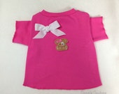 Adorable Pink Puppy TShirt Clothes Size XXXS through Medium by Doogie Couture