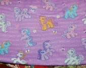 Kawaii Vintage Style Purple My Little Pony Fabric 1 Yard OOP Out of Print Hard To Find RARE yardage Rainbow Dash Sunny Daze Sparkleworks 80s