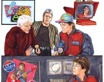 Hey McFly!?! Back to the Future II Print