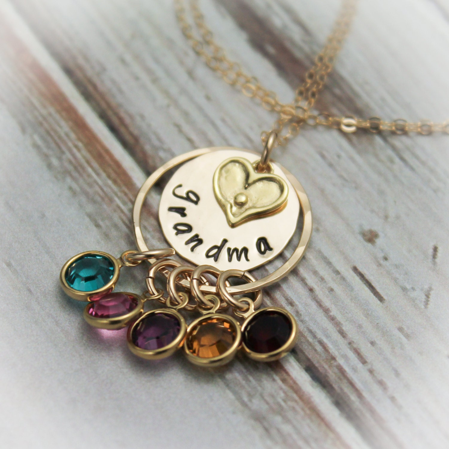 Grandmother necklace with birthstones personalize with for Grandmother jewelry you can add to