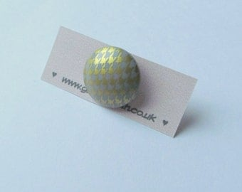 Gold Houndstooth Ring