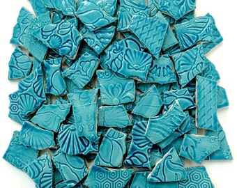 Turquoise Mosaic Ceramic Tiles - 1 Square Foot
