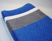 Changing Pad Cover Color Block Cobalt Blue Gray White