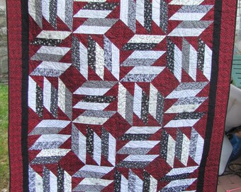 What's Black N White N Red All Over Quilt