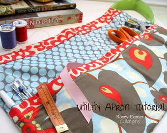 Utility Apron Tutorial  pdf pattern Instant Download
