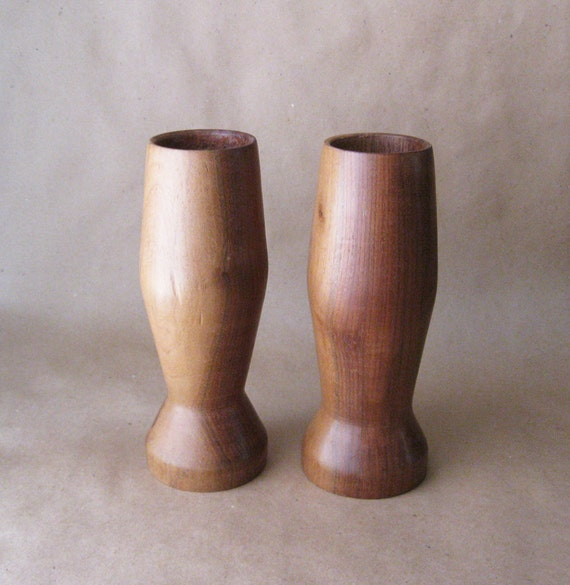 Modern wooden candle holders rustic farmhouse solid wood for Rustic wood candle holders
