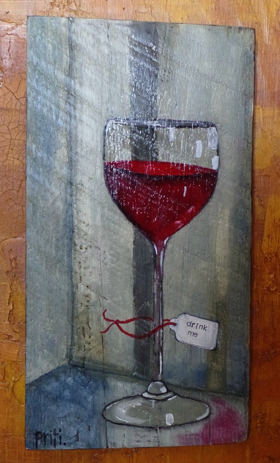 Items similar to original acrylic painting wine red wine for How to paint a wine glass with acrylics