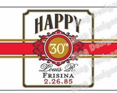 Custom Cigar Bands - Happy Birthday - Wedding Party Labels - Groomsman Cigar Bands (16)