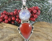 Red Moon Pendant Necklace - Red Tent Jewelry - Pregnancy Necklace