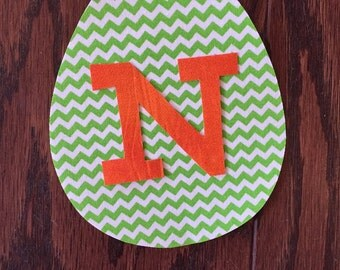 Boy Easter Egg Iron On Applique, You Choose Fabric