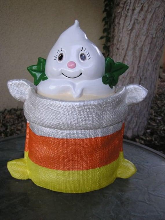 Sale 50 Off Candy Corn Ghost Cookie Jar