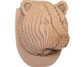 Stewart Jr - Medium Cardboard Bear Head - Brown