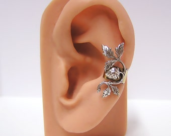 Strawberry on a Vine Ear Cuff (sw)