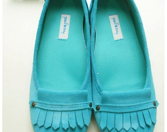 Dolly in Mint super soft and comfy with arch support and also wide toe shape