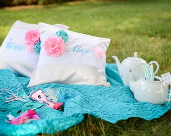 GreatStitch Throw Pillow Alice Inspired Party