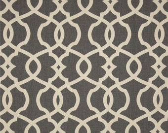Pair (2 panels) high end designer grommet top curtain panels drapes, Magnolia Home Fashions emory pewter
