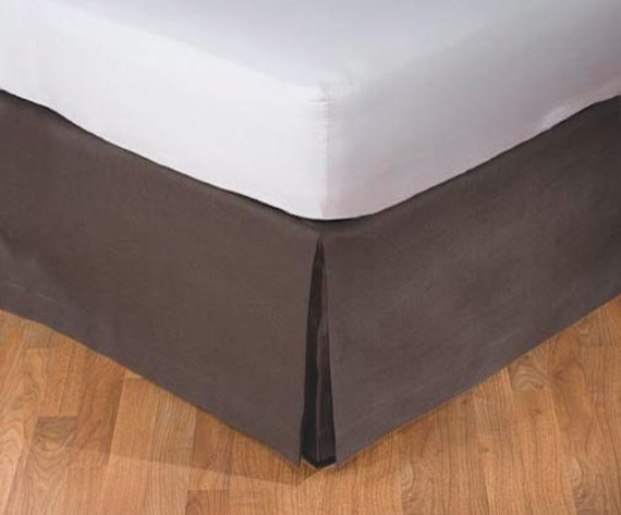 custom made 16 drop linen bed skirt tailored box by