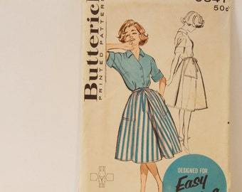 Vintage 1950s shirt and skirt Butterick Misses Quik 'n easy coordinates Pattern 9347 size 14