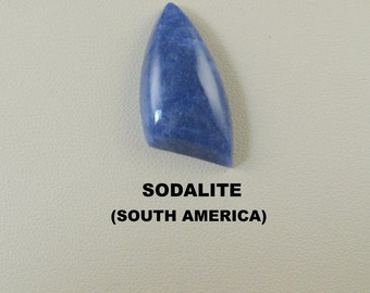 Sodalite Freeform Designer Cabochon for Jewelry Artisans.