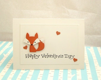Fox Valentine Card, Fox Valentine, Valentines Card, Valentine Day Card, Fox Card for Valentine's Day, Kid's Valentine Card, Child's Card