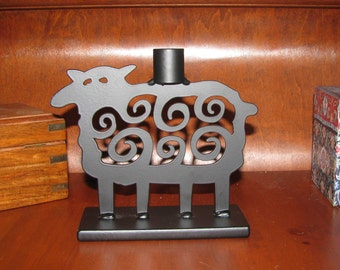 Black sheep candle holder
