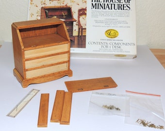 The House of  Miniatures Chippendale Desk  Partially Completed