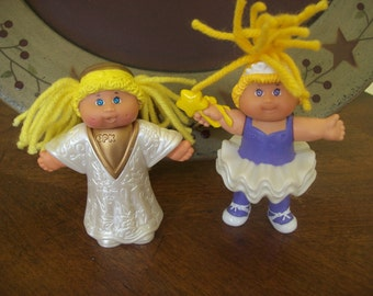 SALE Set of 2 Mini Cabbage Patch PVC Figurine Dolls Ballerina and Angel Was 10.00