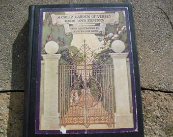 Vintage Book A Child's Garden of Verses by Robert Louis Stevenson Illustrated by Jessie Willcox Smith