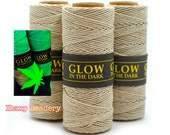 Glow in The Dark Hemp Cord, 1mm,  20lb, 66 Yard Spool, Glow Hemp, UV Jewelry Cord, Hemp Twine, Party Twine, 100% Hemp   -T60