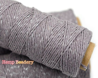 Bakers Hemp Twine,   Metallic Twine, 1mm,  205 feet, 4ply, Hemp Twine, Gift Wrap, Packaging,  Sweet Dreams,  -T63
