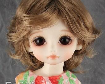 """Fatiao - New Dolls Wig Dollfie Yo-SD 1/6 BJD 6-7"""" size - Latte"""