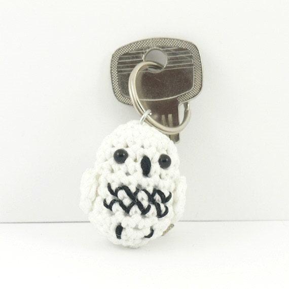Amigurumi Owl Keychain : Amigurumi owl keychain crochet owl keyring plusch owl by ...
