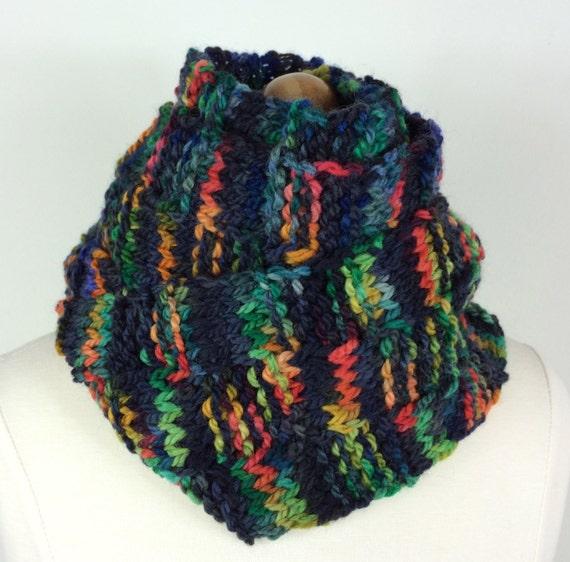 Knitting Basket Weave Stitch Scarf : Items similar to Hand Knit Scarf - BASKETWEAVE MULTI on Etsy